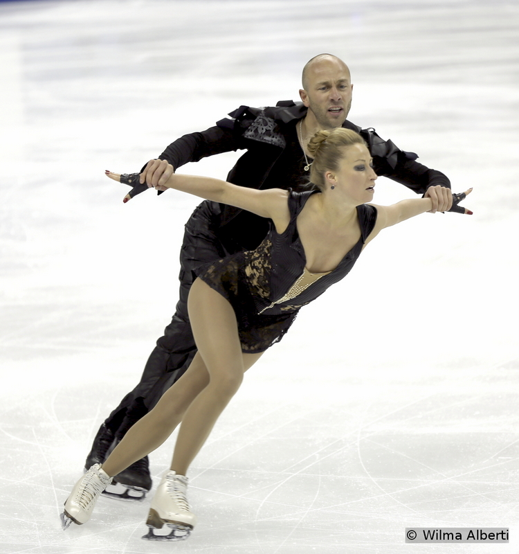 """Nelli Zhiganshina and Alexander Gazsi practicing their free dance in Shanghai, to music from """"Swan Lake Reloaded"""". Unfortunately for them and their fans, they had to withdraw from the event due to Alexander's stomach problems; this was actually the last event of their competitive career - and we'll surely miss their distinct presence on the ice"""