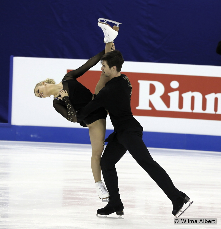 Madison Hubbell and Zachary Donohue - free dance