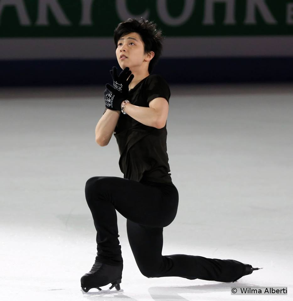 "Yuzuru Hanyu, practicing his exhibition routine, to ""The Final Time Traveler"""