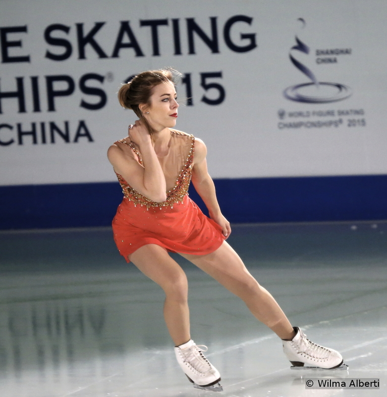 """What a season this has been for Ashley Wagner: she managed to come back from the sixth place after the short program at the Grand Prix Final, to eventually win the bronze medal in Barcelona. In Shanghai, she ended the competition on the 5th place – and, in the Gala, she skated to """"One Last Night"""" by Vaults"""