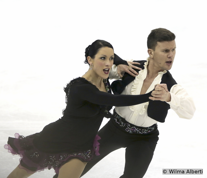 """It's all about attitude: Charlene Guignard and Marco Fabbri, practicing their short dance in Shanghai, to Flamenco (""""Farrucas"""" by Jose Galvan) and Paso Doble (""""Gato Montes"""" by Hugo Montenegro)"""