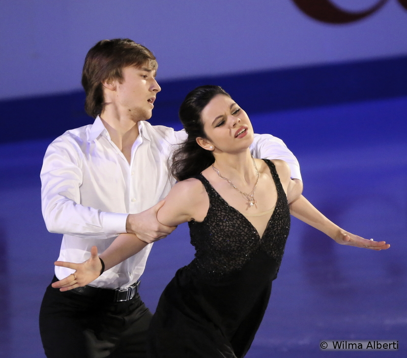 """This was Elena Ilinykh and Ruslan Zhiganshin's first season as a team on the international stage – and they finished the Worlds in Shanghai on the 7th place; in the Gala, they skated to """"Je t'aime"""" by Lara Fabian"""