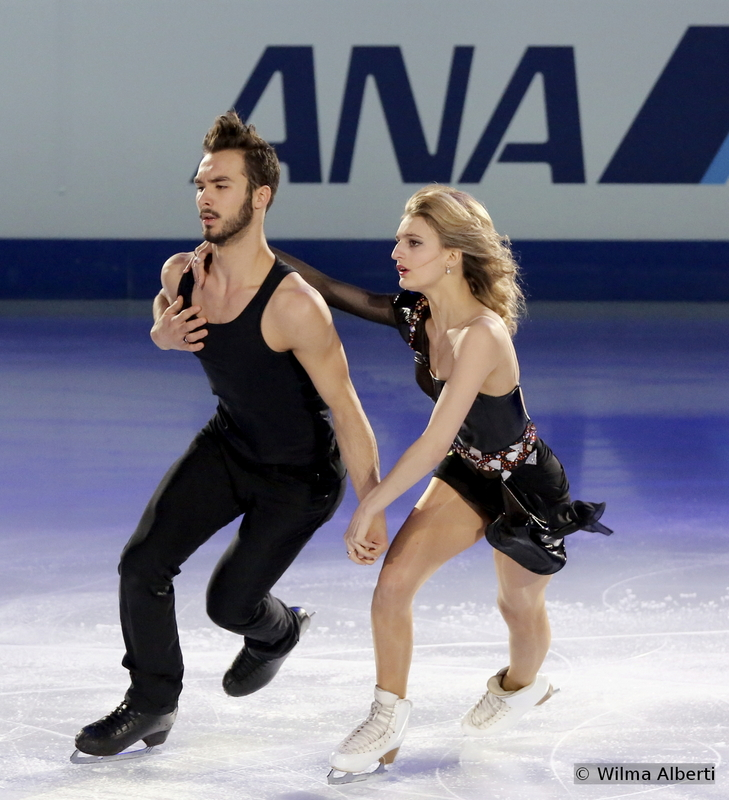 """Ladies and Gentlemen, here they are, the biggest surprise of these Championships (and the biggest leap, that's for sure): from being 13th last year in Saitama, Gabriella Papadakis and Guillaume Cizeron claimed the World crown in Shanghai, only the fourth French couple to do that in the history of the event, after Isabelle and Paul Duchesnay in 1991, Marina Anissina and Gwendal Peizerat in 2000 and Isabelle Delobel and Olivier Schoenfelder in 2008. Still, Gabriella and Guillaume, at 19 and 20, are the youngest of all of the above – and the dance couple to watch the following years, heading to PyeongChang, and after. At the exhibition gala in Shanghai, the French skated to """"Take Me to Church"""" by Hozier"""