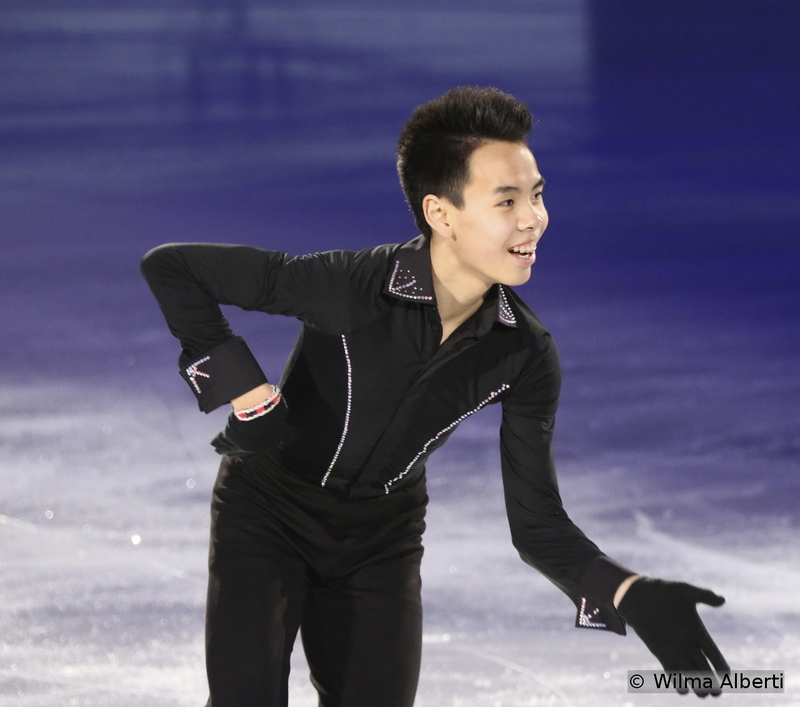 """Now that's a young man who loves to skate – and entertain the audience while doing that: Canada's Nam Nguyen was 5th in Shanghai (at 16, already at the second Worlds of his career) and, for the Gala, he chose to skate to """"Does Anybody Really Know What Time It Is?"""" by """"Chicago"""""""