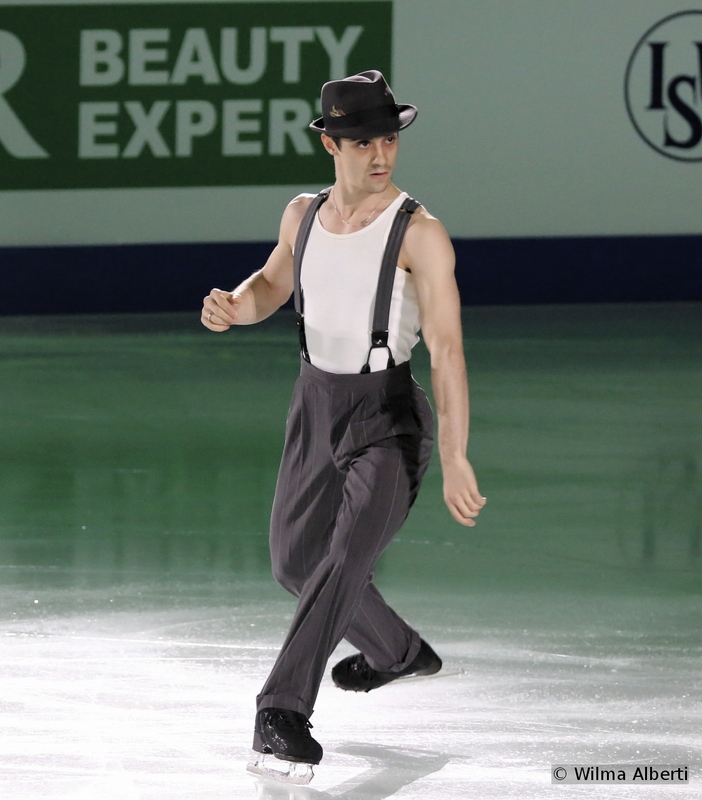 """The man who made Spain proud, the three-time European champion and, since the end of March, the World champion en-titre: Javier Fernandez. In Shanghai, the Spaniard skated an amazing short program, to """"Black Betty"""" by Ram Jam, only to come back the following day and be as convincing as possible in the role of the Barber of Seville. """"I train hard, really, really hard, but I was not expecting to be the gold medalist. This medal will help me to keep going for the next years, will give me a lot of energy to practice hard and to keep competing and trying my best in every single competition"""". In the Gala, Javier skated to """"Touch of Evil"""" by Henry Mancini, a program choreographed by Kurt Browning and Geoffrey Tyler"""