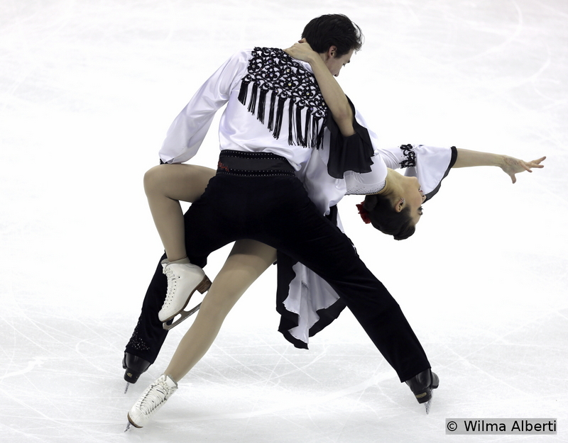 """On their last season together on the ice, Cathy Reed and Cris Reed chose to skate to """"El Cid"""" and """"Gato Montes"""" for their short dance"""
