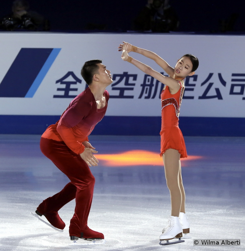 """China's Cheng Peng and Hao Zhang were 4th in Shanghai, at 2015 Worlds – and their progress together, during the last season, is undeniable. In the exhibition gala, they skated to music from """"Notre Dame de Paris"""""""