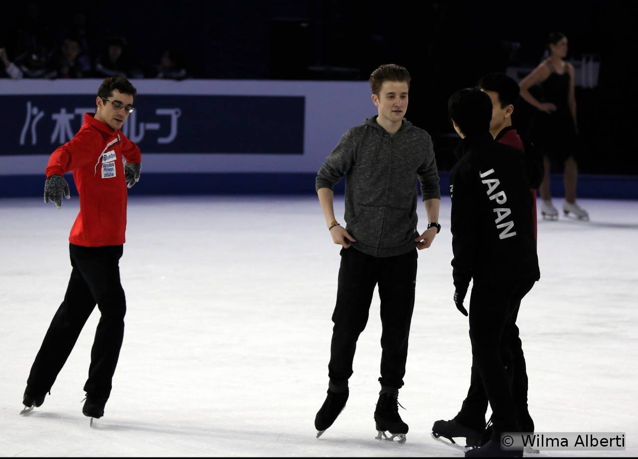 A little chit-chat with Misha, Nam, Yuzuru – and a diligent, attentive Javier Fernandez