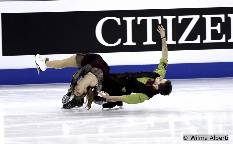 """From where we stand, Alexandra Nazarova and Maxim Nikitin have been one of the revelations of last season: trained by Alexander Zhulin, the young Ukrainians took the bronze medal at 2015 Junior Worlds – and their creativity might prove one of their biggest aces in their senior career; here, practicing their free dance, to """"Escalier"""", """"Tango Tchack"""" by Hugues Le Bars and """"Air"""" by Johann Sebastian Bach"""