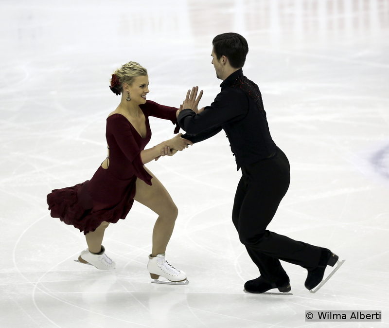 Madison Hubbell and Zachary Donohue - short dance