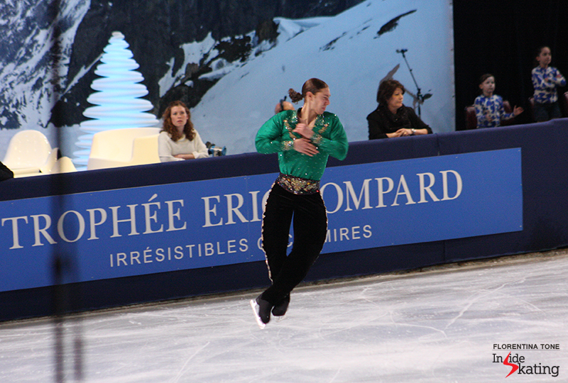 Jason Brown is listed among the participants at Freezer Aerial Figure Skating Challenge; the photo shows him in Paris, at 2013 Trophee Eric Bompard
