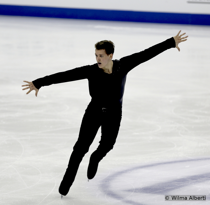 Young as he is (19 in Shanghai), Maxim Kovtun already competed in three (senior) Worlds – but still it's the lack of maturity that keeps him off the podium: he was 17th in 2013, 4th in 2014 and 7th this year. The last to skate in the short program segment in Shanghai, Maxim found it difficult to focus – he doubled a planned quad Toe and popped the triple Axel – and placed 16th at the end of the night; a day later, skating to music by Muse, he tried to win back what he'd lost. 6th in the free, he finished 7th overall – but the feeling is this talented young man is still gasping for air – and for the most suitable road to follow.