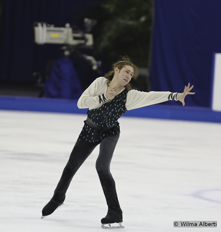 "The American Jason Brown practicing his free program in Shanghai, to ""Tristan & Iseult"" by Maxime Rodriguez"
