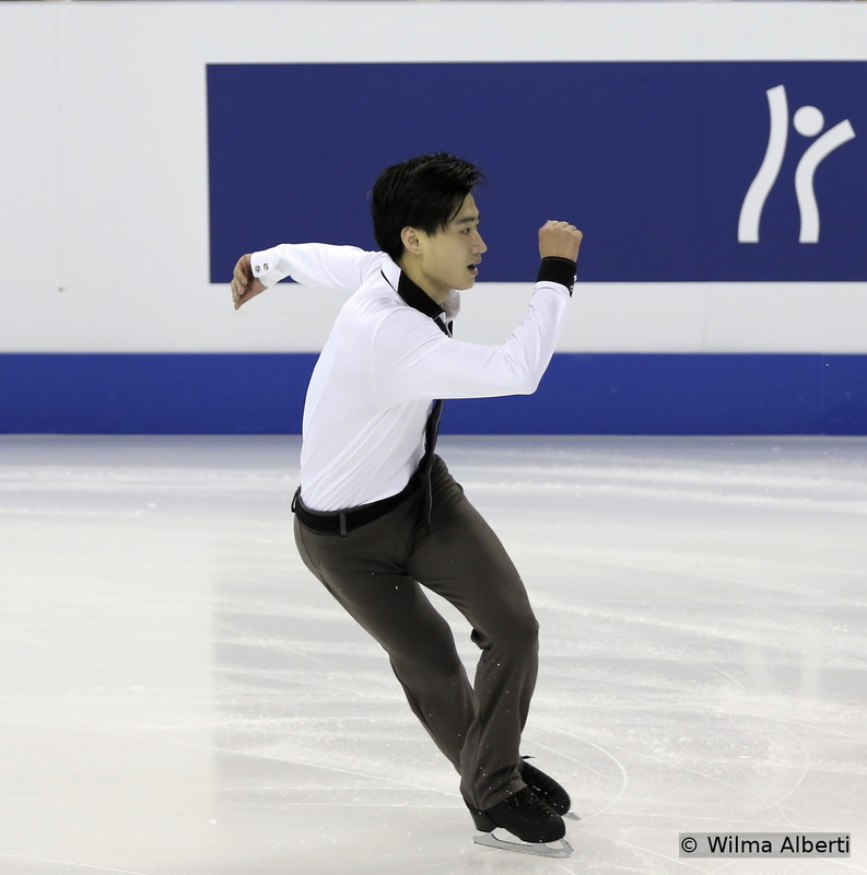 """China's Nan Song skated to """"Night Train"""" during his SP – he didn't advance to the free skating either, but the Worlds in his home country were only the beginning of his comeback, after the injury he sustained in 2014"""