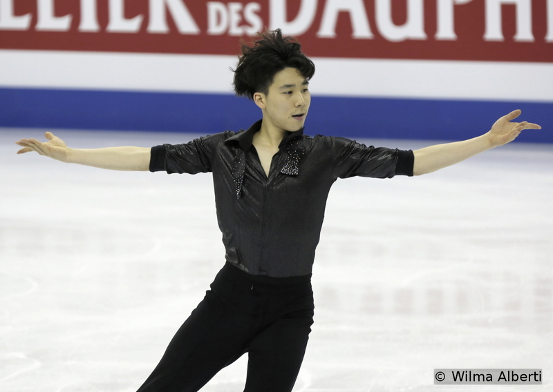 """The 18-year-old June Hyoung Lee is too a name to follow the years to come since he's the first South Korean male skater to win a Junior Grand Prix event and to qualify for the ISU Junior Grand Prix Final (in December 2014, in Barcelona, he placed sixth overall). At his senior World debut in Shanghai, June Hyoung Lee finished 19th – the photo shows him skating his SP to """"The Wild Party"""""""