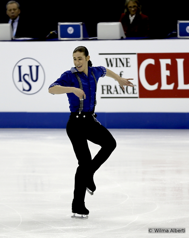 """A barrel of energy and optimism this skater is – and his enthusiasm, really contagious. At the first senior Worlds of his career, the 20-year-old Jason Brown learned from the experience of the Olympics and was able to manage his emotions, finishing the competition in Shanghai  on the 4th place. Looking at the photo above, once can easily sense he loved performing to Little Walters's """"Juke""""."""