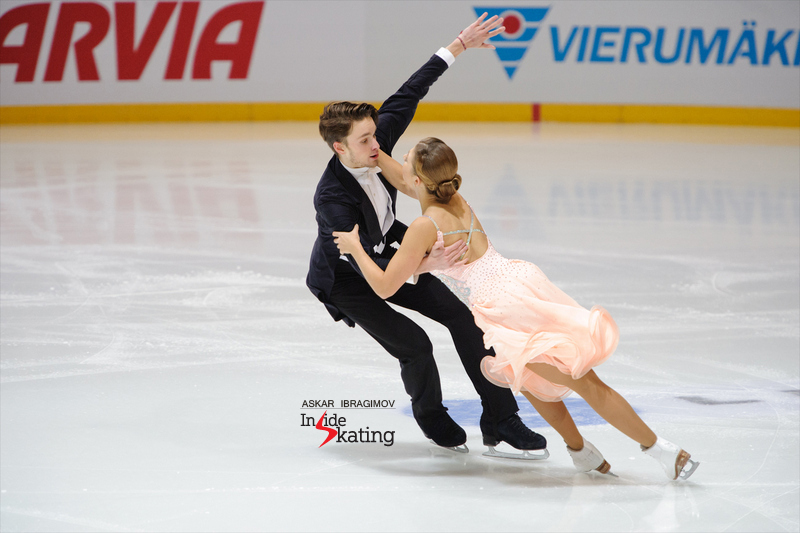 "Cecilia Törn & Jussiville Partanen from Finland placed 5th at this year's edition of the event in Espoo; here they are, skating their short dance to ""The World (With You)"" and ""Witchcraft"" by Frank Sinatra"