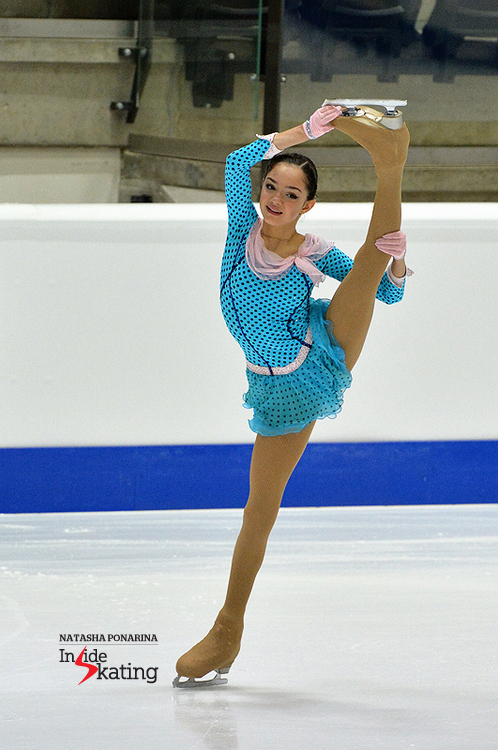 Evgenia Medvedeva at 2015 Junior Worlds; she won the crown in Tallinn and she now takes the senior level by storm