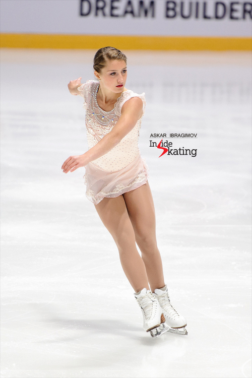 Trust me: this free program, to Puccini's opera arias, is a beauty; if only she could hold those landings… Hannah Miller's Grand Prix assignments for this season are Cup of China and Rostelecom Cup.