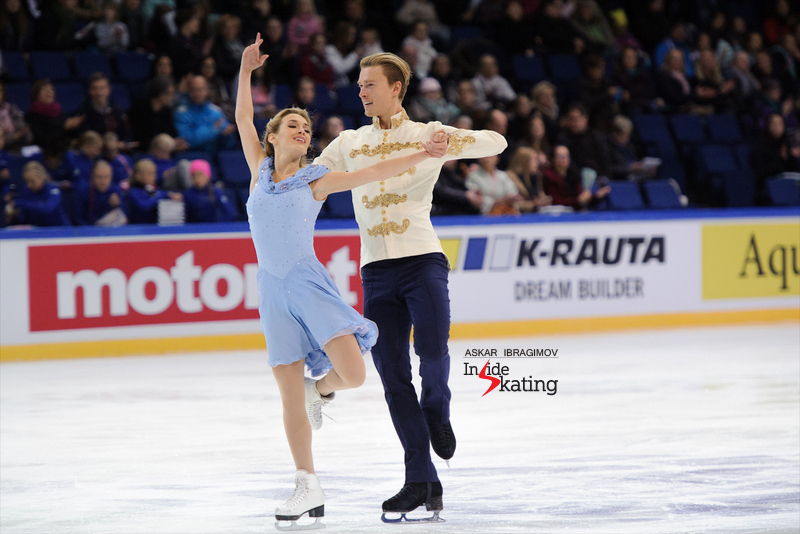 "Isabella Tobias and Ilia Tkachenko skating to music from ""Cinderella"""