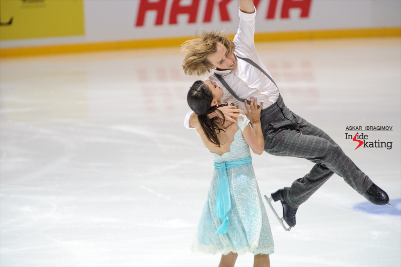 "Kaitlin Hawayek and Jean-Luc Baker skating to music from the movie ""The Theory of Everything"" at this year's edition of Finlandia Trophy"