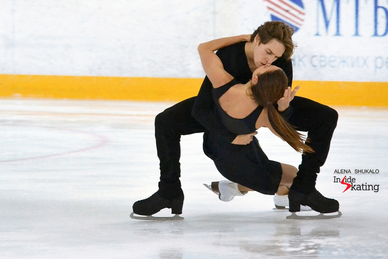 """Performing their free dance, to """"Torn"""" by Nathan Lanier"""