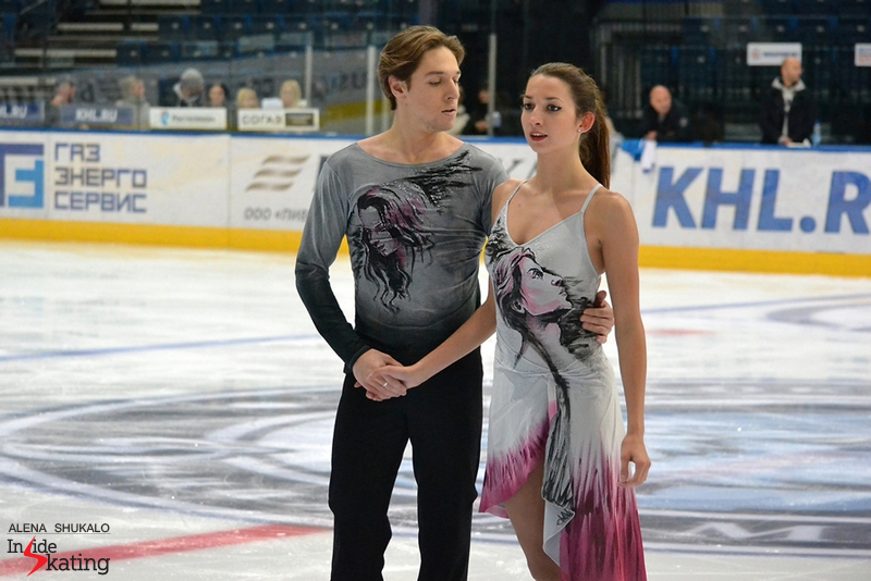 Ksenia and Kirill during practice in Minsk, at this year's edition of Ice Star