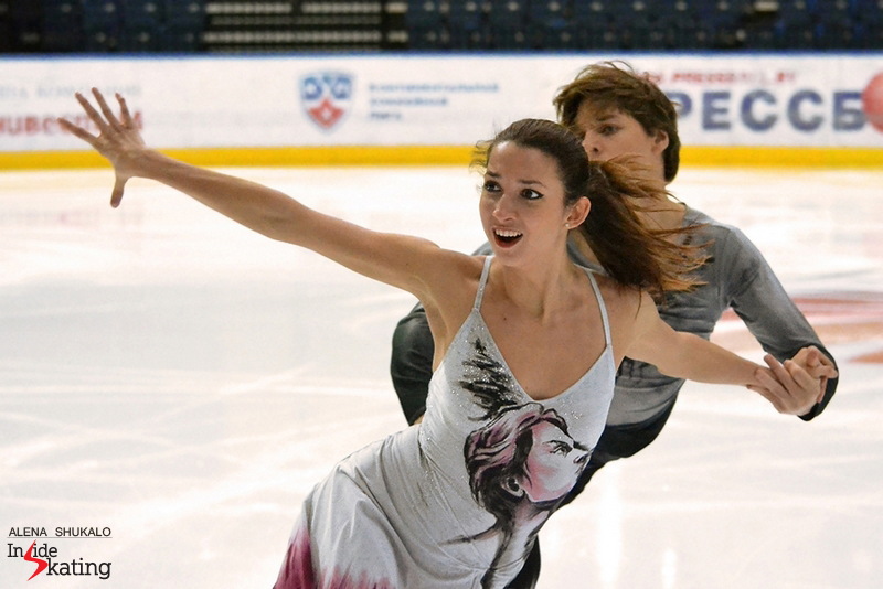 During practice, wearing their portrait-costumes