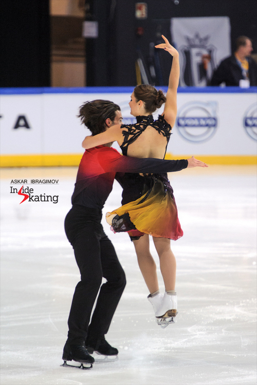 "You have to admire Laurence and Nikolaj wonderful taste in music - and costumes; here they are, skating to ""Never Tear Us Apart"" by INXS"