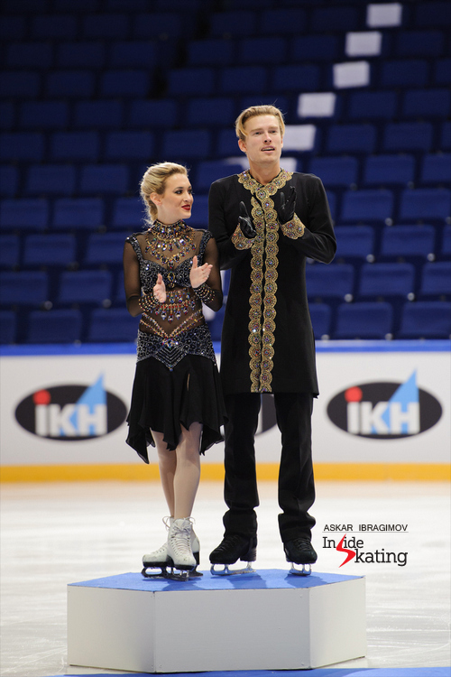 A great start for Isabella Tobias and Ilia Tkachenko in their first season as a dance team: silver at 2015 Finlandia Trophy