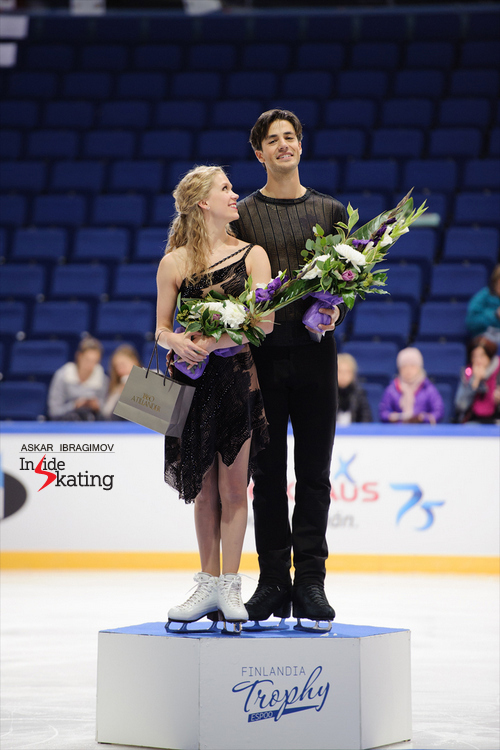 A radiant pair of champions: Kaitlyn Weaver and Andrew Poje