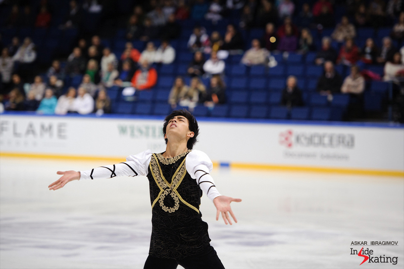 "Michael Christian Martinez, performing his free skate to ""Romeo and Juliet"" by Sergei Prokofiev. This season, he is assigned to skate at Cup of China."