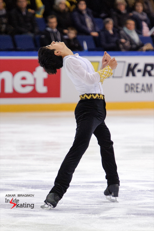 "The 18-year-old Michael Christian Martinez from the Philippines placed 9th at this year's edition of Finlandia Trophy. For his short program, he chose to skate to ""Egmont"" by Ludwig van Beethoven"