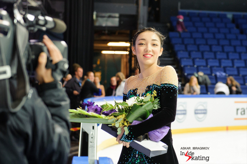 The happy winner Rika Hongo in Espoo