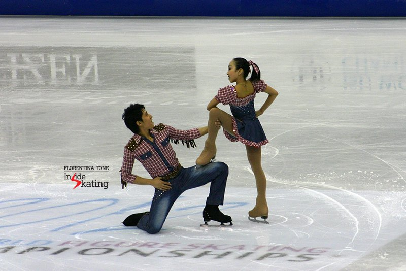 China's Wenjing Sui and Cong Han, at the 2012 Worlds in Nice; a couple of years later, they have their eyes on the World gold