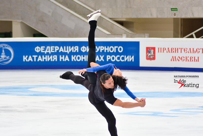 2015 Cup of China's champions, Yuko Kavaguti and Alexander Smirnov, during practice in Moscow