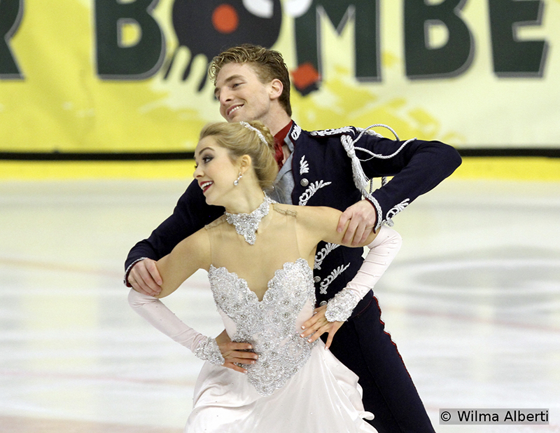 "This new ice dancing couple, America's Danielle Thomas and Daniel Eaton, chose to skate to selections from ""Cinderella"" in the Short Dance – and won this particular segment of the event in Graz (Daniel formerly skated with Alexandra Aldridge)"