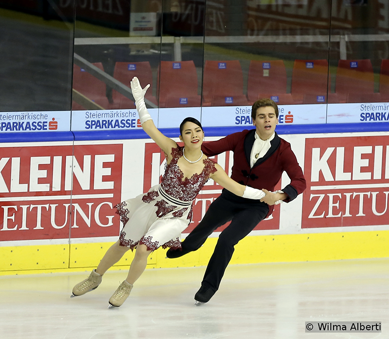 Laying in second after the Short Dance were Italy's Misato Komatsubara and Andrea Fabbri