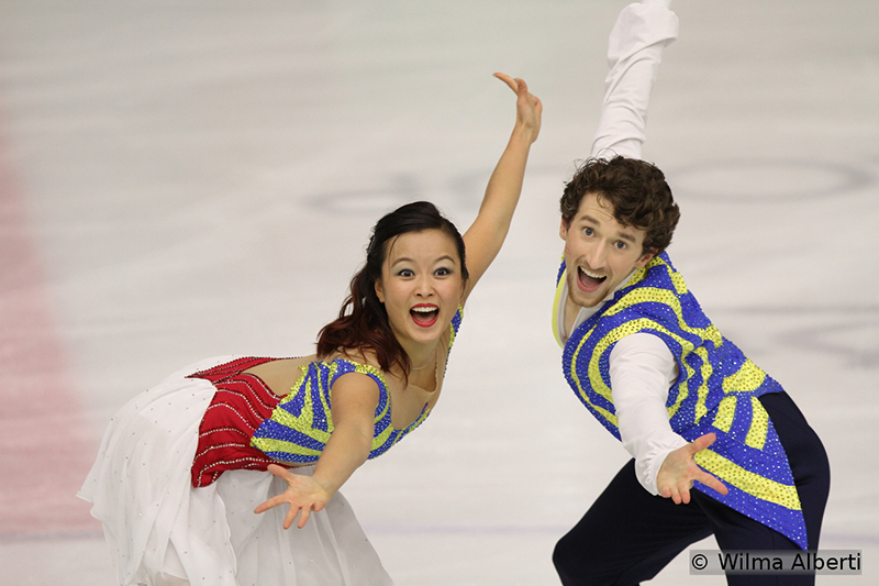 As a part of Korea's strategy to have competitors in all disciplines at 2018 Olympics in PyeongChang, here's an ice dancing couple for the future: Yura Min and Alexander Gamelin (6th after the SD)