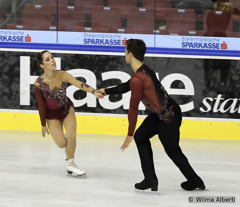 "Italy's Nicole Della Monica and Matteo Guarise were only 4th after their ""Cosmic Journey"" free skate, but managed to retain the bronze medal in Graz"