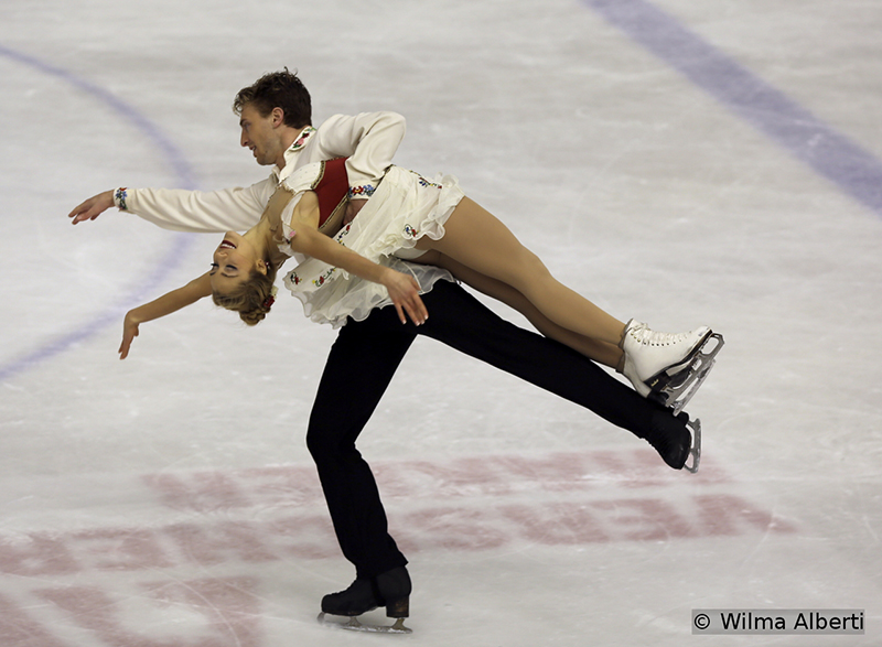 "As Alexa Scimeca and Chris Knierim in the pairs event, American ice dancers Danielle Thomas and Daniel Eaton dominated both segments of the competition; for the free dance, they chose to skate to ""Czardas"" by Zoltan Maga, played by Sonia Lee"