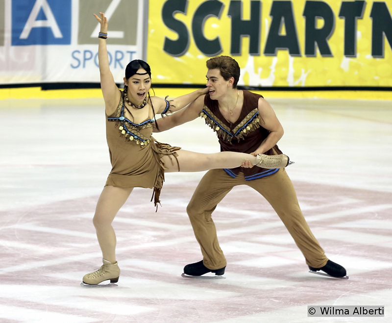 Third after the free skate, Italy's Misato Komatsubara and Andrea Fabbri won the silver medal in Graz, at this year's edition of Ice Challenge