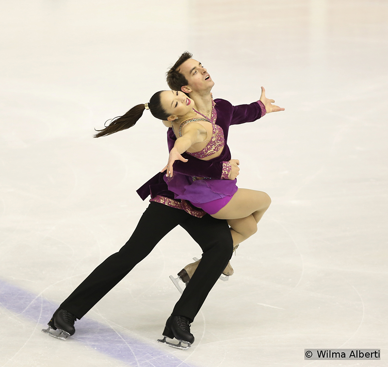 "In their first season together as a pair, Germany's Mari Vartmann and Ruben Blommaert chose to skate in their Short Program to ""Stranger in Paradise"" (from Alexander Borodin's ""Polovtsian Dances""), as performed by Sarah Brightman. They finished this particular segment of the event on the third place."