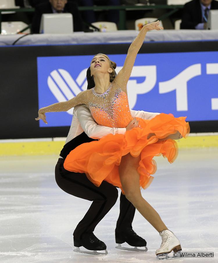 Alexandra Stepanova and Ivan Bukin, 3rd after the short dance at 2015 TEB