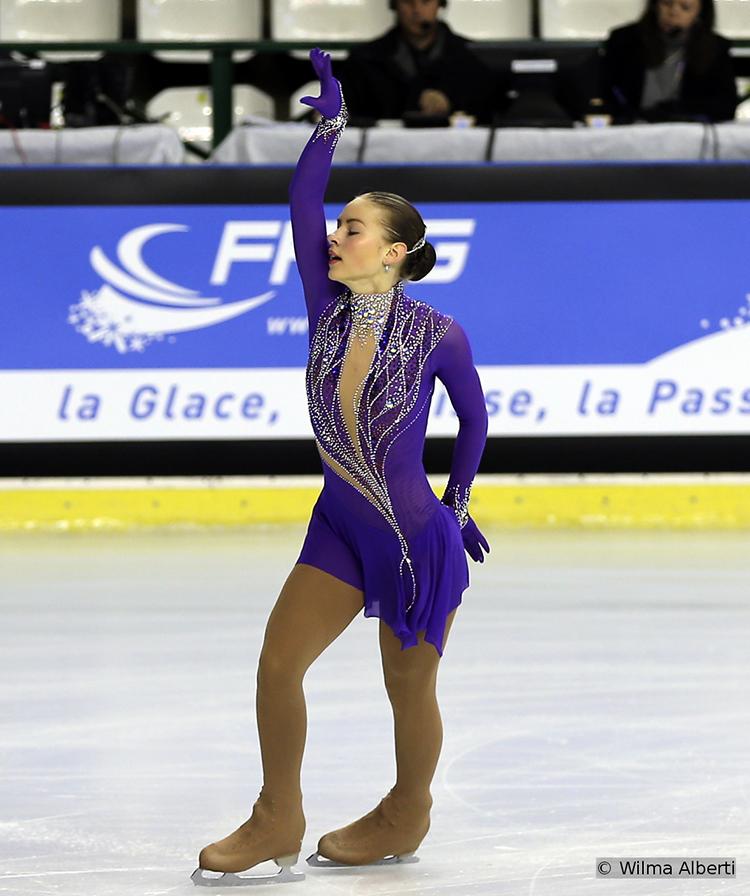 Latvia's Angelina Kuchvalska, 7th after SP