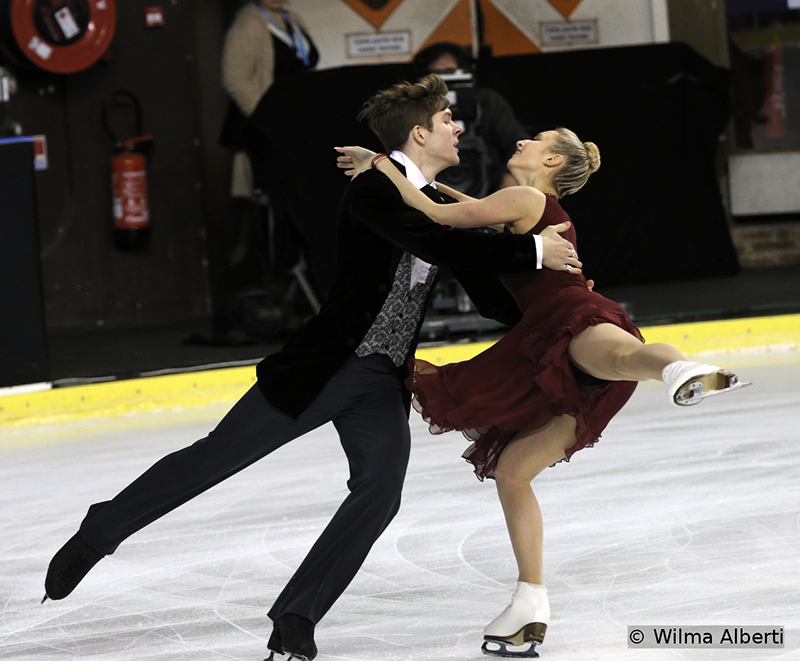 Anna Yanovskaya and Sergey Mozgov, 6th place after the short dance at 2015 TEB
