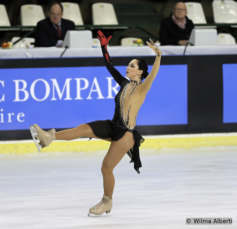 The World champion, Elizaveta Tuktamysheva, was only 5th in Bordeaux, after a not-so-successful short program