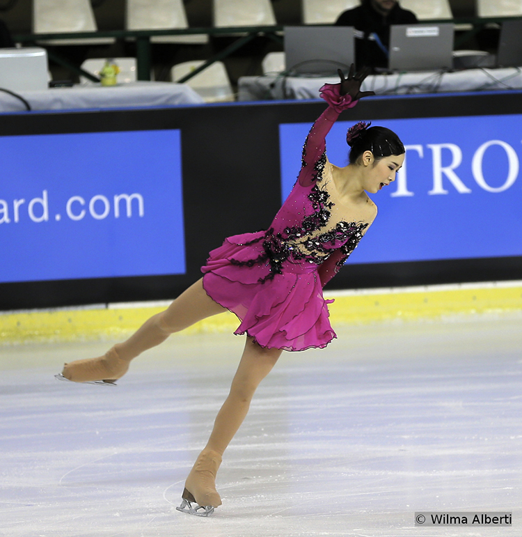 Japan's Haruka Imai during her SP in Bordeaux (9th)