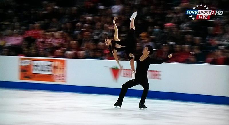 Maia Shibutani and Alex Shibutani - and their wonderful free dance, at 2015 Skate Canada (Photo: Eurosport Screenshot)