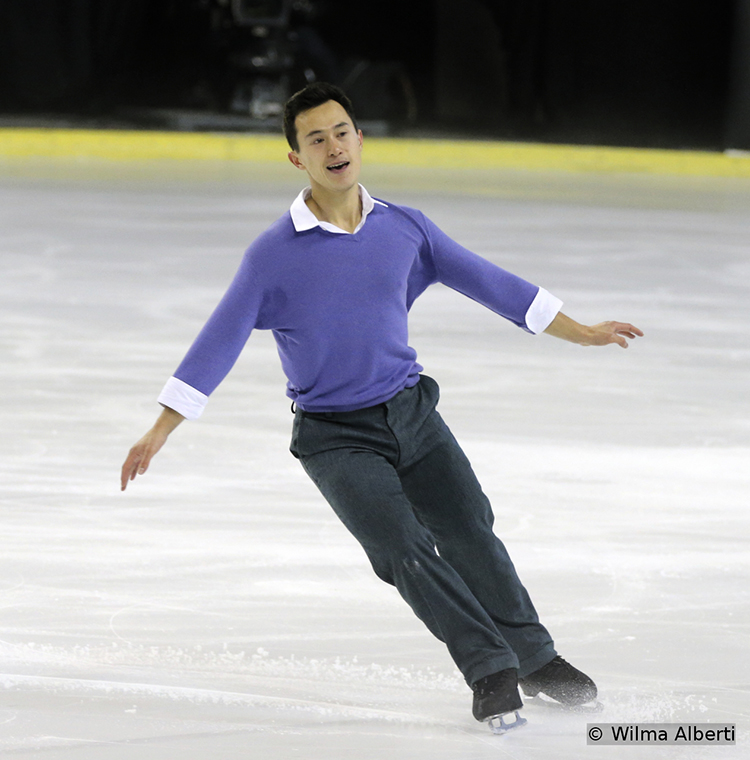 Canada's Patrick Chan finished this particular segment of the men's event in Bordeaux on the 5th place
